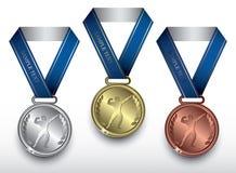 Medalhas do Bodybuilding Fotos de Stock