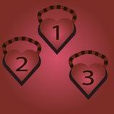 Medalhas do coração Imagens de Stock
