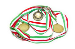 Medalhas do italiano do tênis Fotos de Stock Royalty Free