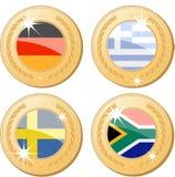 Medalhas do mundo Imagem de Stock Royalty Free