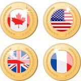Medalhas do mundo Imagens de Stock Royalty Free