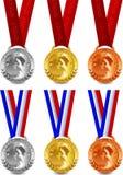 Medalhas do vencedor do vetor Fotografia de Stock Royalty Free