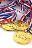 Medalhas douradas Fotografia de Stock
