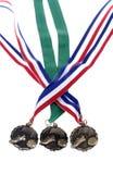 Medalhas isoladas do futebol Imagens de Stock Royalty Free