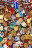 Medalhas militares velhas Foto de Stock