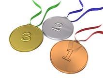 Medalhas olímpicas ilustração stock