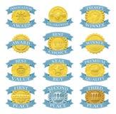 Medalhas ou emblemas da concessão Foto de Stock Royalty Free