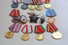 Medalhas URSS Fotos de Stock Royalty Free