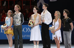 Medalheiros na dança do gelo Imagem de Stock Royalty Free
