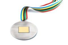 Medalhista de prata Imagens de Stock Royalty Free