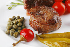 medalionów czereśniowi mięśni pomidory Fotografia Royalty Free