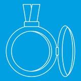 Medalion ikona, konturu styl ilustracja wektor