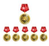 Medalion vinnareuppsättning Royaltyfri Fotografi