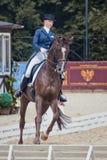 Medalist Marina Aframeeva horse named Vosk Stock Image