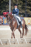 Medalist Marina Aframeeva horse named Vosk Royalty Free Stock Photos