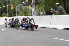 Medalists in the Handcycle Race - ParaPan Am Games - Toronto August 8, 2015 Stock Images