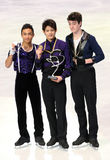 Medalists in men single skating Royalty Free Stock Photos