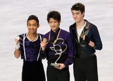 Medalists in men single skating Royalty Free Stock Photos