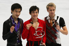 Medalists in men single skating Stock Photography