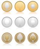 medalj royaltyfri illustrationer