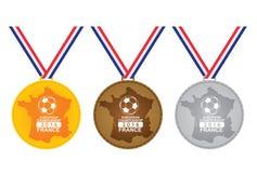 Medalj för vinnaren - europeisk mästerskap Arkivbilder