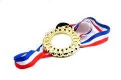 Medalj med bandet arkivbild