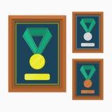 Medalj med ramen Royaltyfri Fotografi