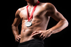 Medalj på bröstkorgen royaltyfria bilder