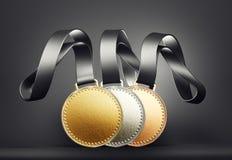 medaljer vektor illustrationer