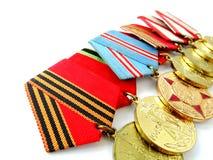 Medaljer för att segra kriget Royaltyfri Fotografi