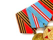 Medaljer för att segra kriget Arkivbilder