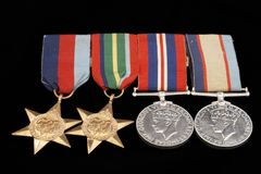 medaljer kriger Arkivbilder