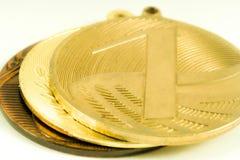 Medaljer på den vita bakgrunden Royaltyfri Fotografi
