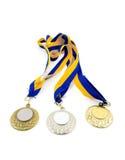 medaljer tre Royaltyfria Bilder