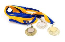 medaljer tre Royaltyfria Foton
