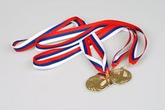 medaljer tre Arkivbilder