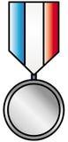 medaljsilver stock illustrationer