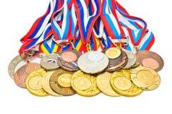 medaljsportar Arkivfoton