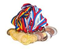 medaljsportar Arkivfoto