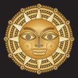 Medallón antiguo del oro solar Fotografía de archivo