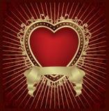 Medallón del corazón de la tarjeta del día de San Valentín - vector libre illustration