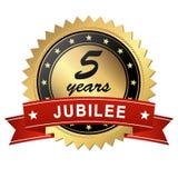 medallón del jubileo - 5 años Fotos de archivo libres de regalías