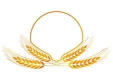Medallón del trigo para la insignia stock de ilustración