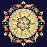 Medallón floral redondo Imagen de archivo