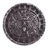 Medallón grabado con el calendario maya Fotos de archivo libres de regalías