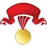 Medall e bandeira Foto de Stock Royalty Free