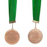 Medalla de bronce Imágenes de archivo libres de regalías