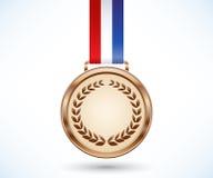 Medalla de bronce Imagen de archivo libre de regalías