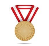 Medalla de bronce del deporte Fotos de archivo libres de regalías