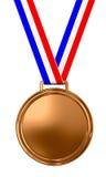 Medalla de bronce en blanco Imagenes de archivo